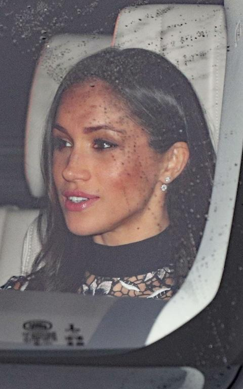 Meghan Markle arriving at the christmas lunch