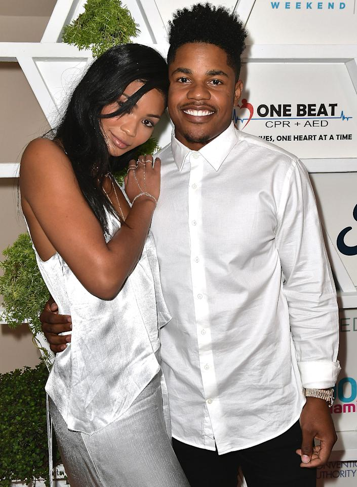 """<p>The model and the New York Giants wide receiver tied the knot at the Beverly Hills Hotel in Los Angeles in March, just <a rel=""""nofollow"""" href=""""http://people.com/celebrity/chanel-iman-sterling-shepard-engaged/"""">four months after their waterfront engagement</a>, Iman's rep confirmed to PEOPLE.  According to <em><a rel=""""nofollow"""" href=""""https://www.brides.com/story/chanel-iman-sterling-shepard-wedding-photos"""">Brides.com</a>,</em> the star-studded guest list included Chrissy Teigen, Gabrielle Union, Odell Beckham Jr., Shanina Shaik and Joan Smalls. Fellow model Jourdan Dunn even served as a bridesmaid!</p>"""