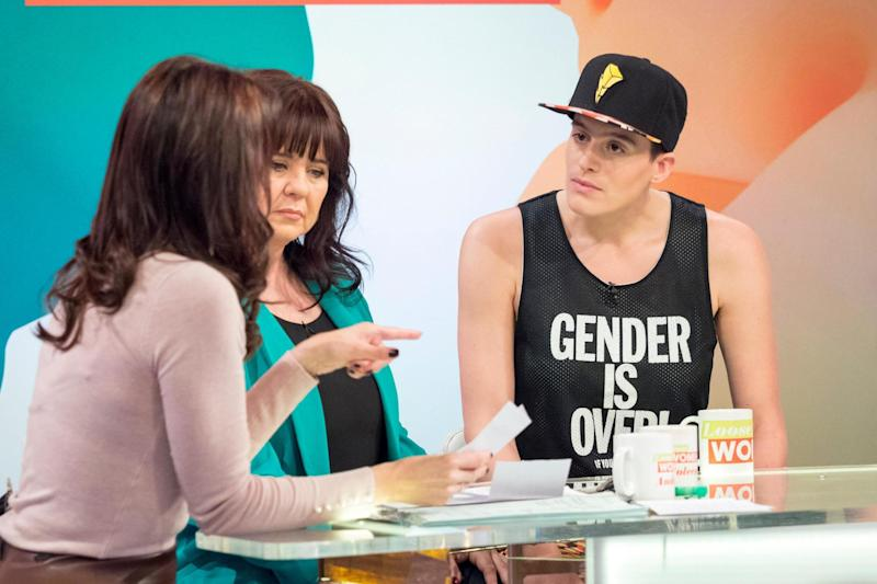 'Sorry': the Loose Women had to apologise after a guest swore on air: Rex Features