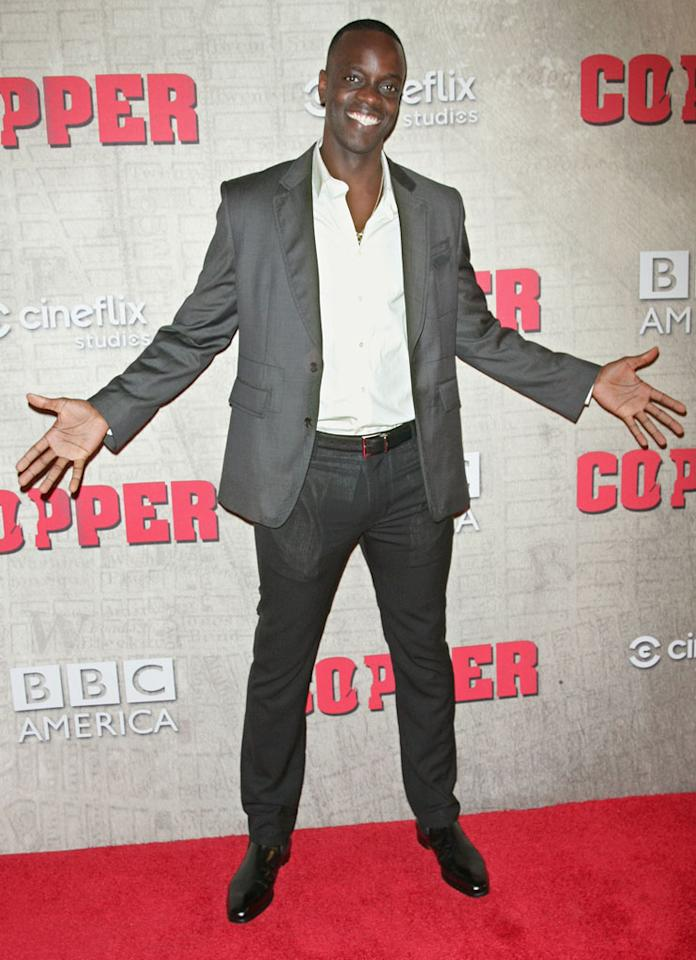 """Ato Essandoh attends the """"Copper"""" premiere at The Museum of Modern Art on August 15, 2012 in New York City."""