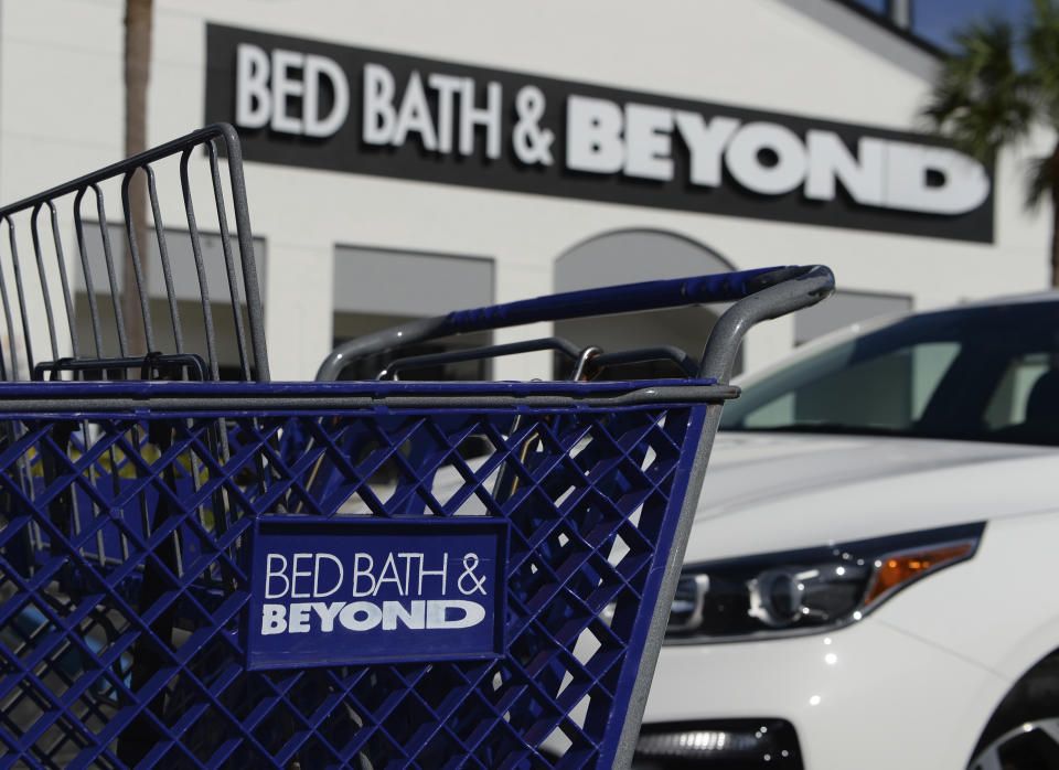 BOCA RATON, FL - AUGUST 27: A general view of Bed Bath & Beyond as they are eliminating 2,800 jobs effective immediately, as the troubled retailer tries to streamline its operations and shore up its finances amid the pandemic on August 27, 2020 in Boca Raton, Florida. Credit: mpi04/MediaPunch /IPX