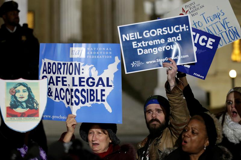 Protesters rally against Supreme Court nominee Neil Gorsuch
