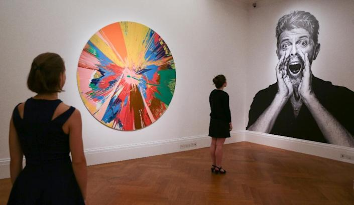 David Bowie's art collection included over 130 works of modern and contemporary British art (AFP Photo/Daniel Leal-Olivas)
