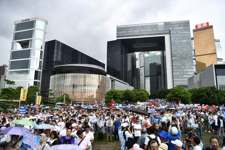Saturday's rally was a moment for Hong Kong's establishment to muster its own supporters