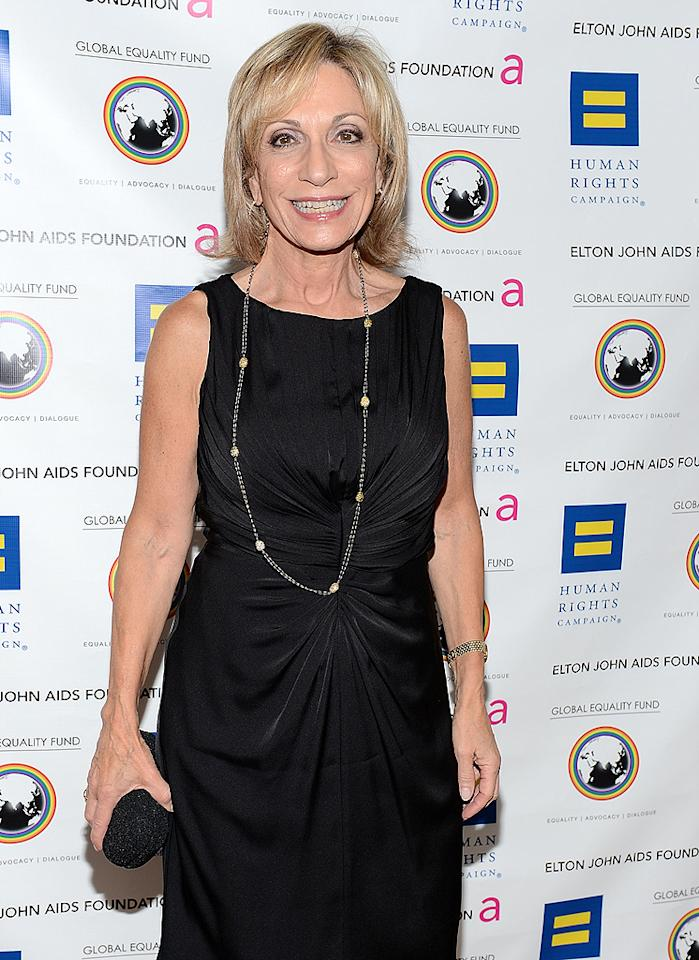 """TV journalist Andrea Mitchell wasn't about to let her breast cancer get in the way of a story! The 65-year-old MSNBC anchor recently revealed that she postponed her recovery from the disease for her job. """"I put off reconstruction after my mastectomy because I wanted to get through the Republican primaries first,"""" she said when she was honored at a Washington, D.C., breast cancer benefit in June. """"I didn't want to be out again for surgery."""" Fortunately, Mitchell did eventually take care of her health. """"I'm good for the long term,"""" she said. (7/23/2012)"""