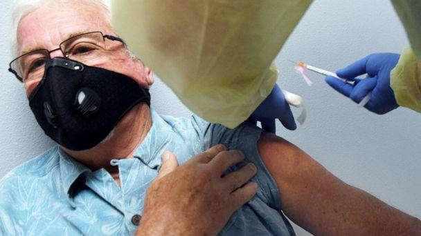 PHOTO: A dose of COVID-19 vaccine is administered during a clinical trial sponsored by Moderna at Accel Research Sites in DeLand, Fla., Aug. 4, 2020. (NurPhoto via Getty Images, FILE)