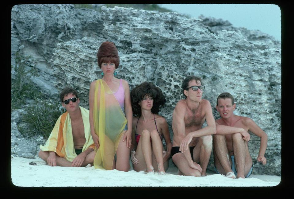 <p>New-wave group the B-52s at the beach.</p>