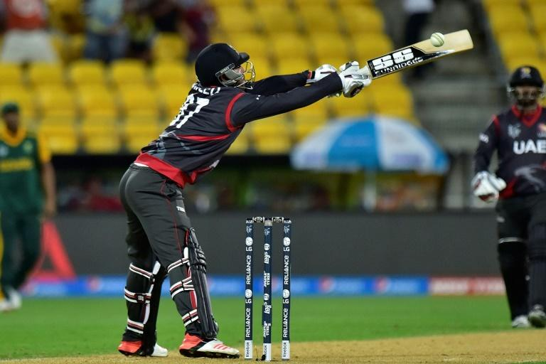 UAE's Mohammed Naveed in action at the 2015 World Cup (AFP Photo/Marty Melville)