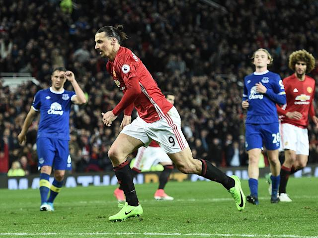 Zlatan steps up to equalise for United: Getty