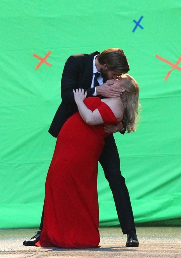 She's been working with fellow Aussie actor Liam Hemsworth and even got a cheeky kiss in. Source: Backgrid