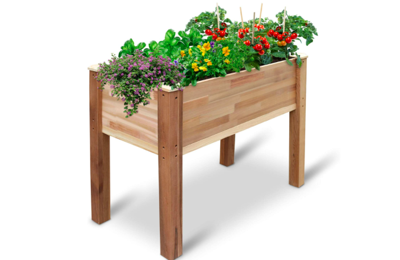 This raised garden bed is gorgeous. (Photo: Amazon)