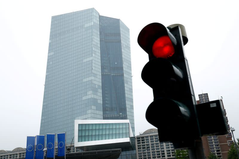 FILE PHOTO: ECB headquarters in Frankfurt