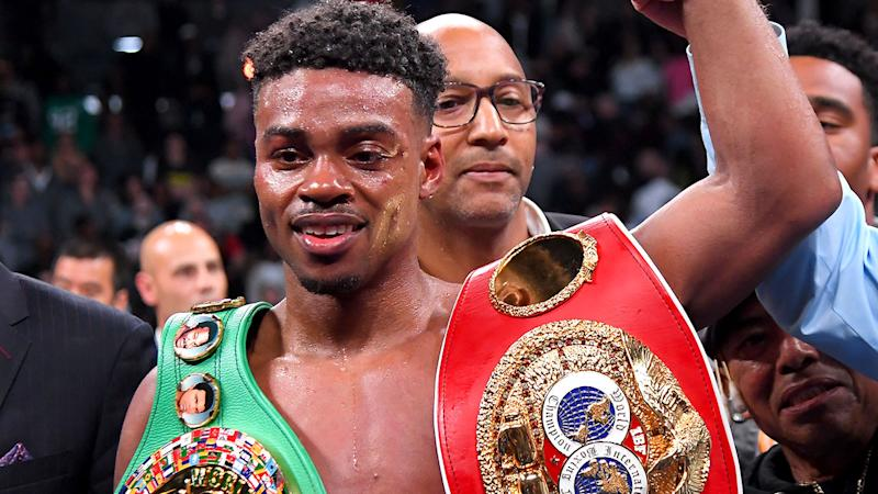 Erroll Spence Jr, pictured here after he defeated Shawn Porter.
