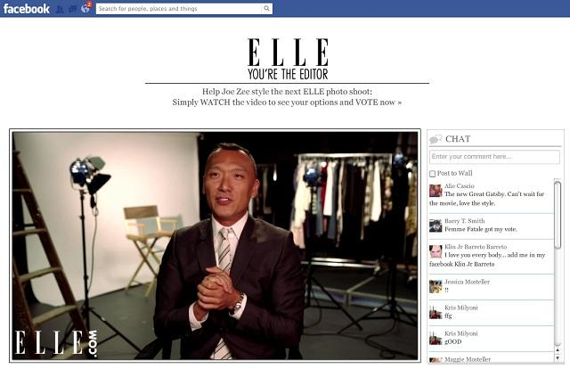 'Elle' Invites Facebook Fans to Collaborate on Next Photo Shoot