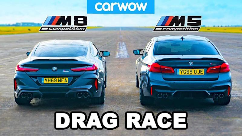 BMW M5 vs M8 Drag Race Lead