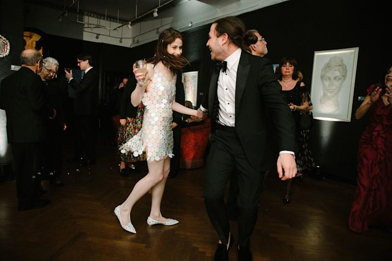 """Dancing with my brother Adam toTom Petty's """"American Girl"""" was so much fun—as was realizing my toe hadn't hurt once the whole night. Whether this was due to adrenaline or six Advil, who's to say? (It was the Advil.)"""