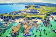 """<p>No roundup of the best hotels in Cornwall would be complete without this grande dame of a building, which has hosted members of royalty, like Prince Charles. As one of the most iconic Cornish hotels, the <a href=""""https://go.redirectingat.com?id=127X1599956&url=https%3A%2F%2Fwww.booking.com%2Fhotel%2Fgb%2Fthe-headland.en-gb.html%3Faid%3D2070929%26label%3Dsynd-cornwall-hotels&sref=https%3A%2F%2Fwww.redonline.co.uk%2Ftravel%2Finspiration%2Fg35836742%2Fbest-hotels-in-cornwall-1%2F"""" rel=""""nofollow noopener"""" target=""""_blank"""" data-ylk=""""slk:Headland"""" class=""""link rapid-noclick-resp"""">Headland</a> is one to seriously impress. It's surrounded by the ocean on three sides and overlooks lovely Fistral Beach. </p><p>There's five-star luxury at every turn, including at the Aqua Club with its six pools and in the stylish bedrooms. Rosette-worthy dining, surf lessons for those looking to try something new and an epic spa, with a sun terrace so you can really make the most of those sea views, completes the experience at this celebrated hotel. Plus, dogs are welcome, so you must bring your pooch!</p><p><a class=""""link rapid-noclick-resp"""" href=""""https://go.redirectingat.com?id=127X1599956&url=https%3A%2F%2Fwww.booking.com%2Fhotel%2Fgb%2Fthe-headland.en-gb.html%3Faid%3D2070929%26label%3Dsynd-cornwall-hotels&sref=https%3A%2F%2Fwww.redonline.co.uk%2Ftravel%2Finspiration%2Fg35836742%2Fbest-hotels-in-cornwall-1%2F"""" rel=""""nofollow noopener"""" target=""""_blank"""" data-ylk=""""slk:CHECK AVAILABILITY"""">CHECK AVAILABILITY</a></p>"""