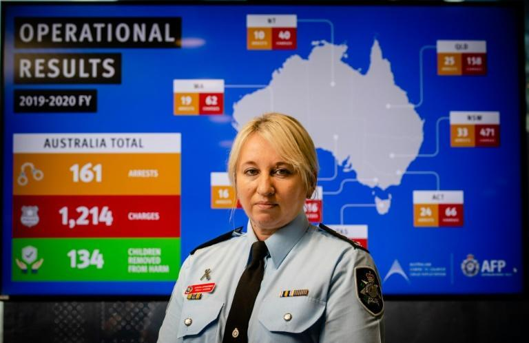 Australian Federal Police detective superintendent Paula Hudson says the pandemic has meant working with forces from other nations to catch sex offenders