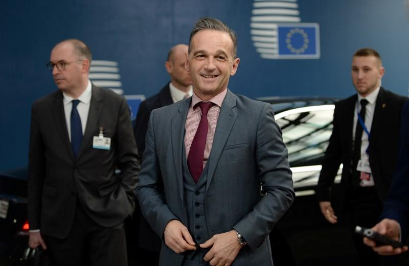 European Union foreign ministers hold an emergency meeting to discuss ways to try to save the Iran nuclear deal, in Brussels