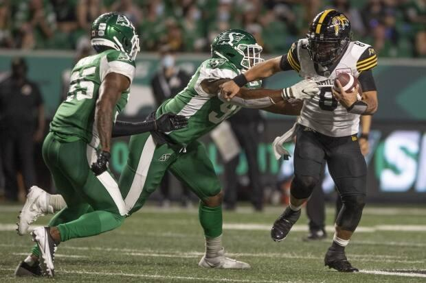 The Saskatchewan Roughriders will require proof of COVID-19 vaccination or a negative test result for fans attending home games. (The Canadian Press - image credit)