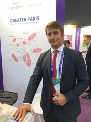 Boris Tkatchenko, a project manager from the Greater Paris Investment Agency, said there was a common interest between the French capital and Hong Kong. Photo: Tony Cheung