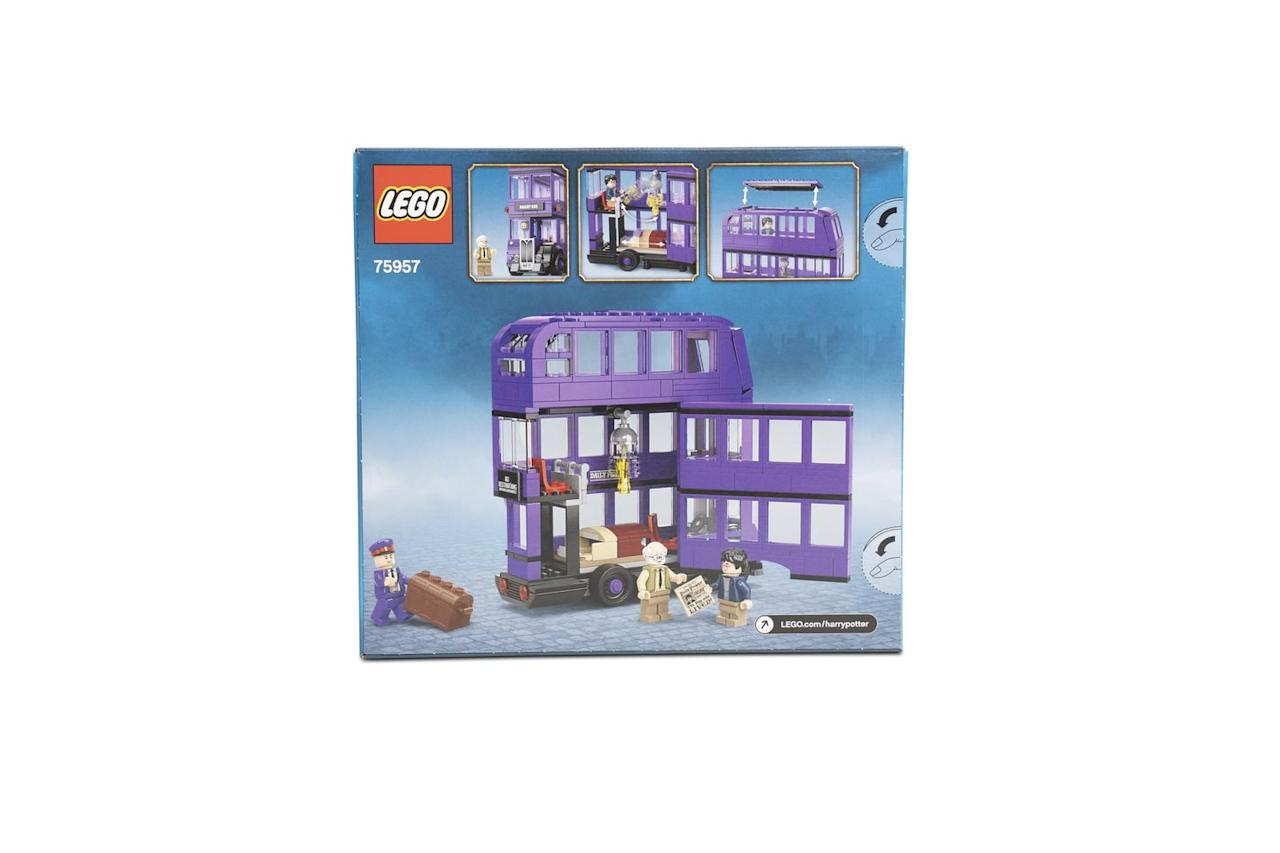 "<p>Movie fans can grab the iconic LEGO Harry Potter Night Bus as featured in the hit film Prisoner of Azkaban. </p><p><a class=""body-btn-link"" href=""https://www.amazon.co.uk/dp/B07KX54VHF/ref=psdc_364074031_t1_B004OT8HRQ?tag=hearstuk-yahoo-21&ascsubtag=%5Bartid%7C2060.g.27783271%5Bsrc%7Cyahoo-uk"" target=""_blank"">BUY NOW FROM AMAZON</a></p><p>• Also available direct from the<strong> <a href=""https://shop.lego.com/en-GB/product/The-Knight-Bus-75957"" target=""_blank"">LEGO shop</a></strong> online and <strong><a href=""https://www.johnlewis.com/lego-harry-potter-75957-knight-bus/p4189154"" target=""_blank"">John Lewis & Partners</a>.</strong></p>"
