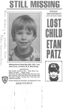"""A poster with the writing of accused Pedro Hernandez is pictured in this undated evidence handout photo provided by defense attorney Alice Fontier. Jurors in the New York murder trial of the man who confessed to strangling Etan Patz in 1979 asked on Friday to examine a missing-child poster featuring the 6-year-old boy on which the suspect had written, """"I am sorry (and) choke him."""" REUTERS/Defense attorney Alice Fontier/Handout"""