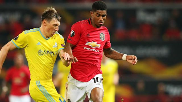 Marcus Rashford was happy with Manchester United's ability to get past Astana at Old Trafford on Thursday.