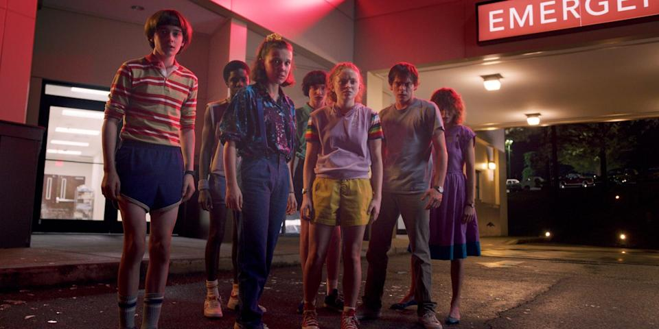 "<p>""Horror"" is a strong word when describing <strong><a class=""link rapid-noclick-resp"" href=""https://www.popsugar.com/Stranger-Things"" rel=""nofollow noopener"" target=""_blank"" data-ylk=""slk:Stranger Things"">Stranger Things</a></strong>, but you can't deny it's a creature feature to the max. You may not be hiding under your blankie, but you will be freaked out by the entities attempting to take over a small town in the '80s.</p> <p><strong>Scare factor:</strong> 😱 😱</p>"