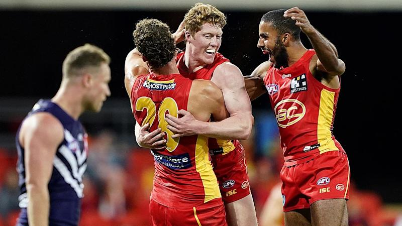 The Gold Coast's winning run has continued in the AFL with a 13-point AFL win over Fremantle