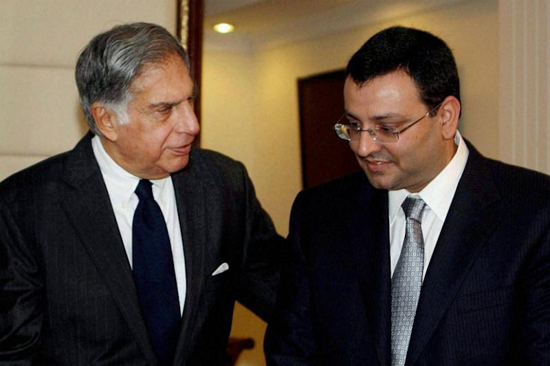File photo of Ratan Tata with Cyrus Mistry. (PTI)