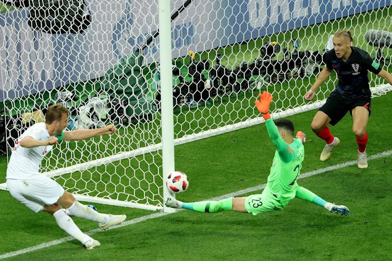 Harry Kane missed a golden chance to put England 2-0 ahead in this summer's World Cup semi-final: Getty Images