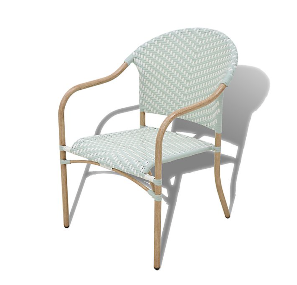 Bee & Willow Home Nantucket Wicker Stacking Chair in Sage (Photo via Bed Bath & Beyond)