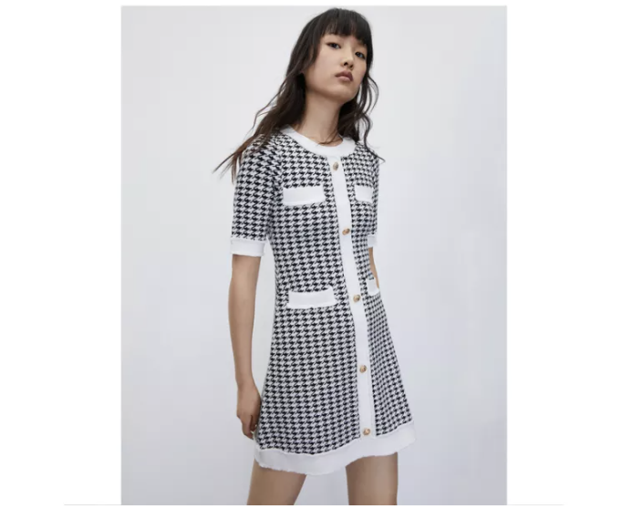 Urban Revivo French check dress. (PHOTO: Lazada Singapore)