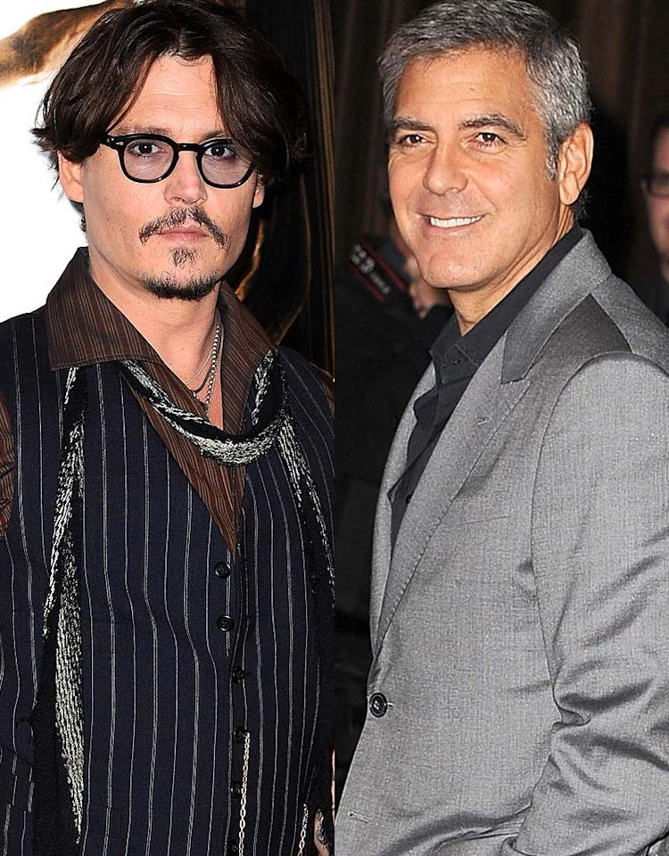 <strong>Ultimate Male Fantasy Date</strong><br>Although most of us would happily take either one of these guys as our dream date on Valentine's Day, most women in our survey would prefer the charming George Clooney (19 percent) to last year's survey winner, the always cool Johnny Depp (18 percent). The buff (and often bare-chested) Matthew McConaughey (16 percent) and singer Usher (8 percent) finished ahead of a three-way tie between Ryan Gosling, Ryan Reynolds, and Brad Pitt, who all received 7 percent of the vote. (FYI: Ryan Gosling also earned honors as the #1 pick for the dream date gay men would prefer.)