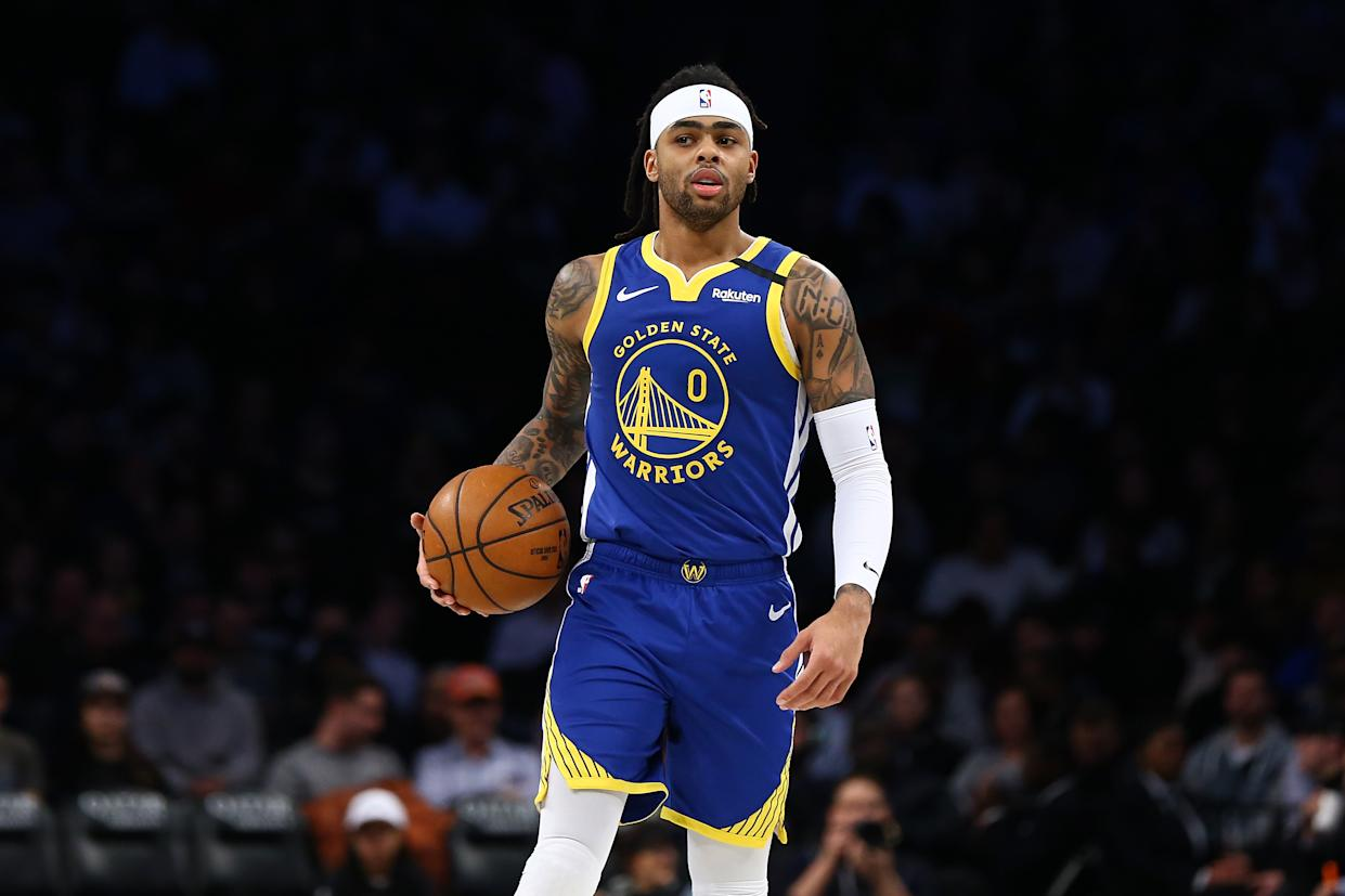 Warriors point guard D'Angelo Russell is headed to Minnesota. (Mike Stobe/Getty Images)