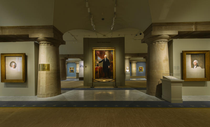 The existing halls of the National Portrait Gallery's presidential wing. (Courtesy of the Smithsonians National Portrait Gallery Photos by Matailong Du)