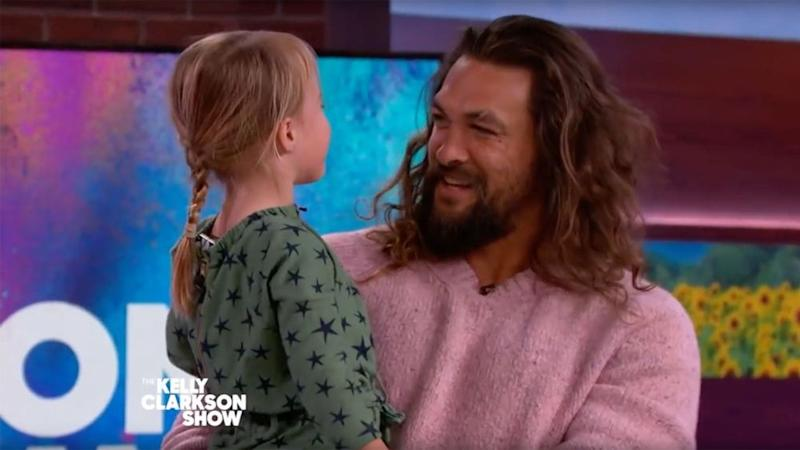 Jason Momoa with River Blackstock | The Kelly Clarkson Show