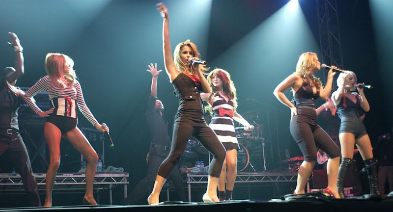Girls Aloud perform during the V Festival In Hylands Park, Chelmsford on Saturday August 19, 2006. Photo by Zak Hussein/EMPICS Entertainment