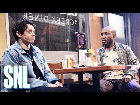 "<p>In possibly one of Mulaney's best sketches ever, comedian Pete Davidson orders lobster at the local diner, which somehow leads to an unexpected rendition of ""Les Miserables.""</p><p><a href=""https://www.youtube.com/watch?v=Pj-D0jc17D0"">See the original post on Youtube</a></p>"