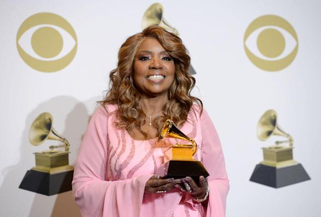 Gloria Gaynor has shared a hand washing video to TikTok, pictured here at the Grammy Awards in January 2020 (Getty)