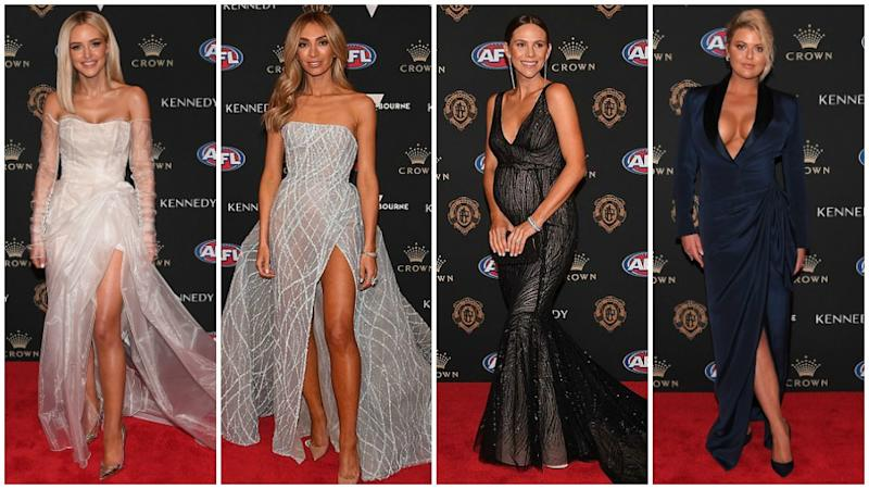 AFL WAGs have once again stunned on the Brownlow red carpet. Photo: AAP