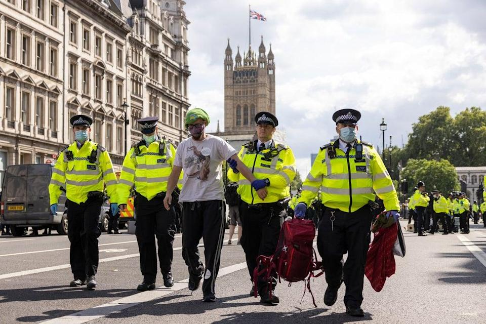 Arrests were outside HMRC on Whitehall (Getty Images)