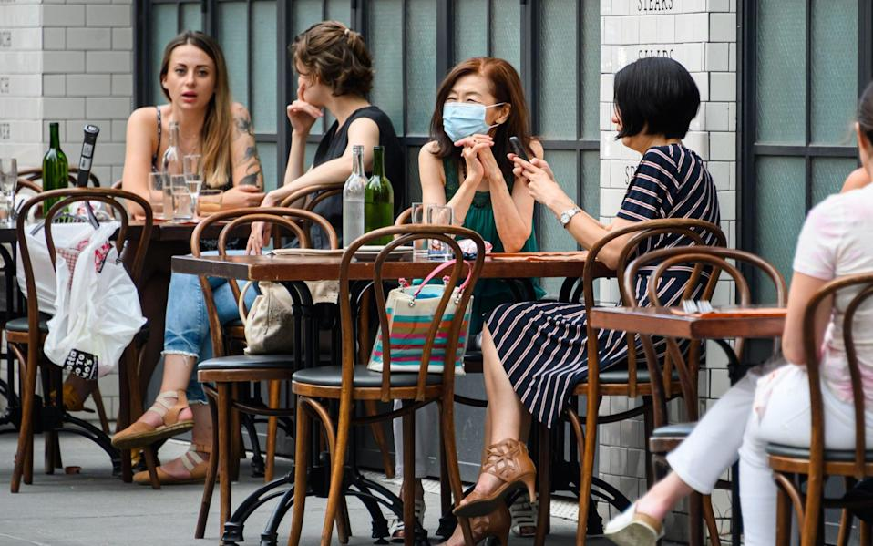 Outdoor dining will return from Monday - Getty