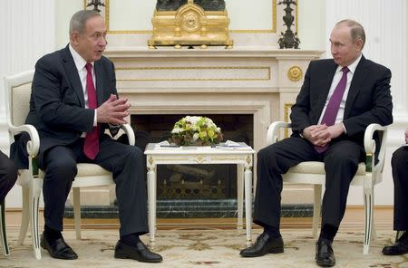 Russian President Putin meets with Israeli PM Netanyahu in Moscow