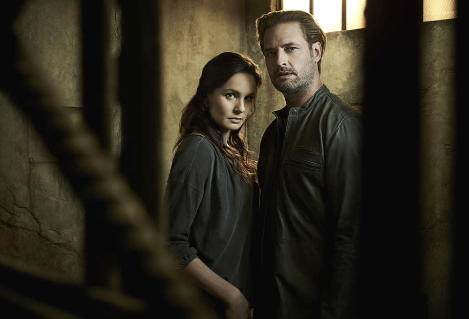 """<p><b>This Season's Theme: </b> """"Last season we showed an alien occupation in its nascent stages,"""" executive producer Ryan Condal says. """"Season 2 will show the darker more authoritarian view of occupation and colonization."""" <br><br><b>Where We Left Off: </b> Katie (Sarah Wayne Callies) and the resistance captured an alien, presumably killed it, and extracted the mysterious """"gauntlet"""" from his body suit, but not before former FBI agent turned reluctant collaborator Will (Josh Holloway) tracked them down and realized the extent of his wife's betrayal. <br><br><b>Coming Up: </b> """"This otherwise strong family was blown apart by external forces,"""" says Condal. """"Katie is broken by the consequences of her actions and isolated from everyone she cares about including the resistance, and Will, who is off trying to get Charlie back home."""" Not that they will be separated for long. """"Will knew he married a rebel and loves her for that, but feels betrayed because she was working both sides,"""" says Holloway. """"Their love is still there. They're bent, not broken."""" <br><br><b>The Struggle Is Real: </b> Brexit, Syria, Russian hacking, and the brutal presidential campaign has made <i>Colony</i> feel """"depressingly more and more relevant"""" to Condal. The eerie tonal similarities hit an apex when the finale shoot coincided with election night. """"That night, oh my god, I didn't even have to act,"""" Holloway recalls. """"My line was like, 'We gotta get out of this block, guys.' Jesus, I felt just like that. That was a tough pill to swallow and still is."""" <i>— CB</i> <br><br>(Credit: Justin Stephens/USA Network) </p>"""