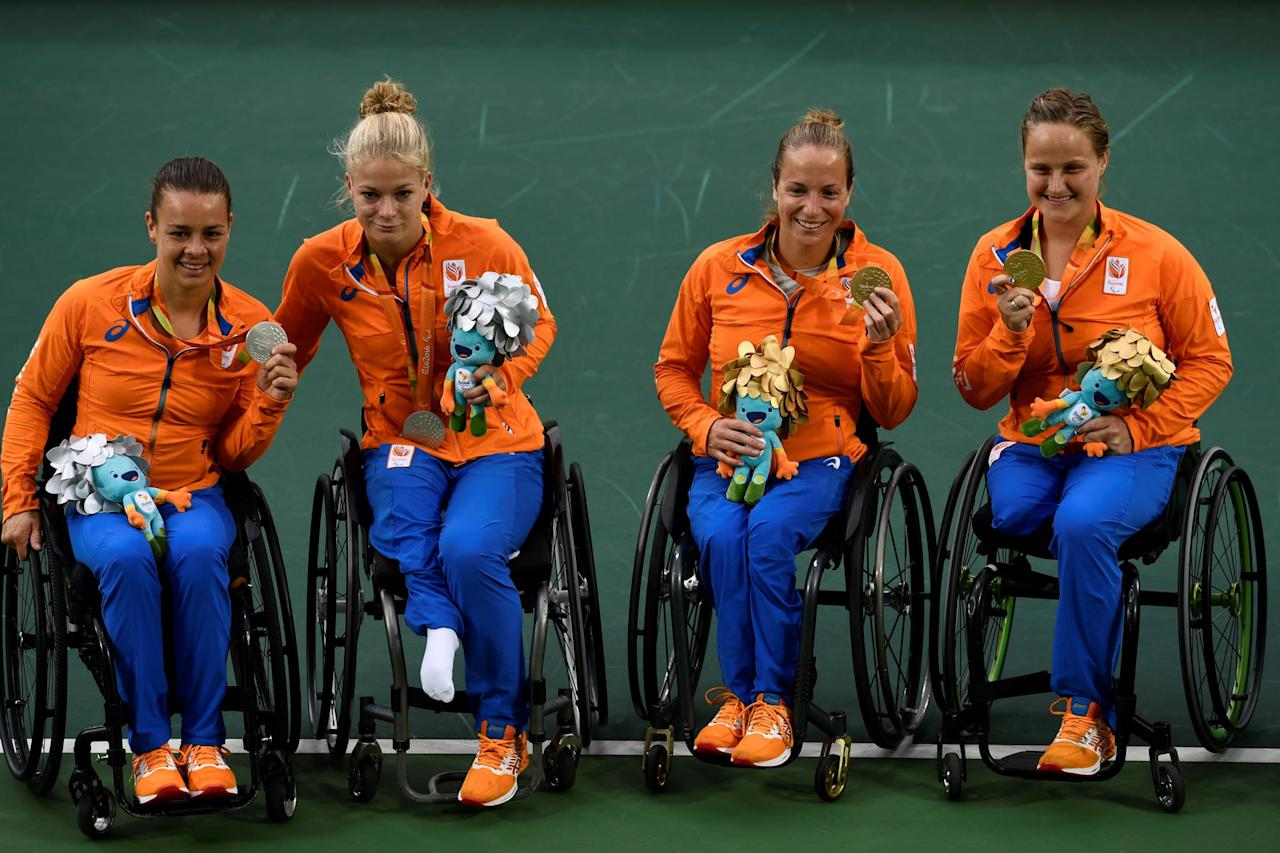 <p>Vergeer won the gold medal in the women's wheelchair doubles final at the 2012 Paralympic Games with partner Marjolein Buis. Four years later, Buis and de Groot won the silver in Rio.</p>