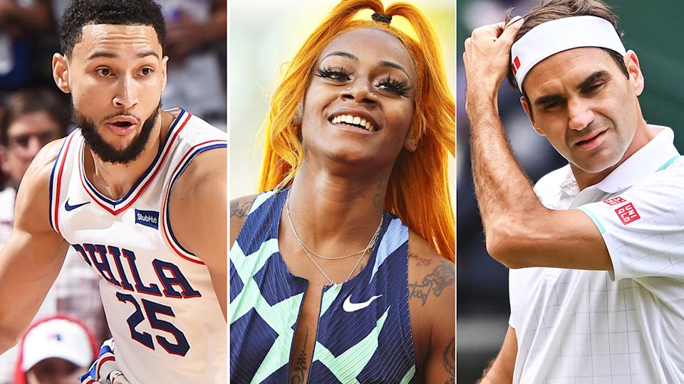 Ben Simmons, Sha'Carri Richardson and Roger Federer are three athletes who will not be competing in the Tokyo Olympics.