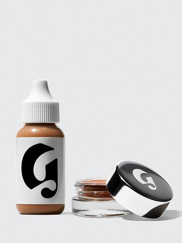 """<p><strong>Glossier</strong></p><p>glossier.com</p><p><a href=""""https://go.redirectingat.com?id=74968X1596630&url=https%3A%2F%2Fwww.glossier.com%2Fproducts%2Fperfecting-skin-tint-stretch-concealer-duo&sref=https%3A%2F%2Fwww.marieclaire.com%2Fbeauty%2Fg34782241%2Fglossier-black-friday-sale-2020%2F"""" rel=""""nofollow noopener"""" target=""""_blank"""" data-ylk=""""slk:SHOP IT"""" class=""""link rapid-noclick-resp"""">SHOP IT</a></p><p><strong><del>$36</del> $27 (25% off)</strong></p><p>This duo contains two of Glossier's most popular makeup products, beloved for creating a barely there, never cake-y makeup look. The super easy-to-blend <strong>Stretch Concealer </strong>works to reduce redness and blemishes, while the ultra light <strong>Perfecting Skin Tint</strong> helps balance complexion and create a brightened look. I've used both for the past three years and I swear by them. </p>"""