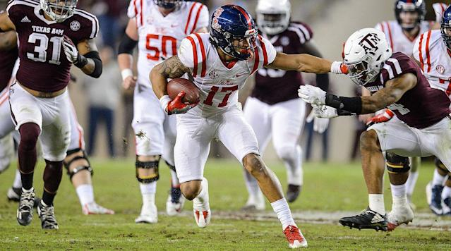 What you need to know: Engram finished out his Ole Miss career by nabbing a First-Team All-America spot, thanks to his impressive 65 catches, 926 yards and eight touchdowns in 2016-he found the end zone against the likes of Florida State, Alabama, Georgia and Auburn.